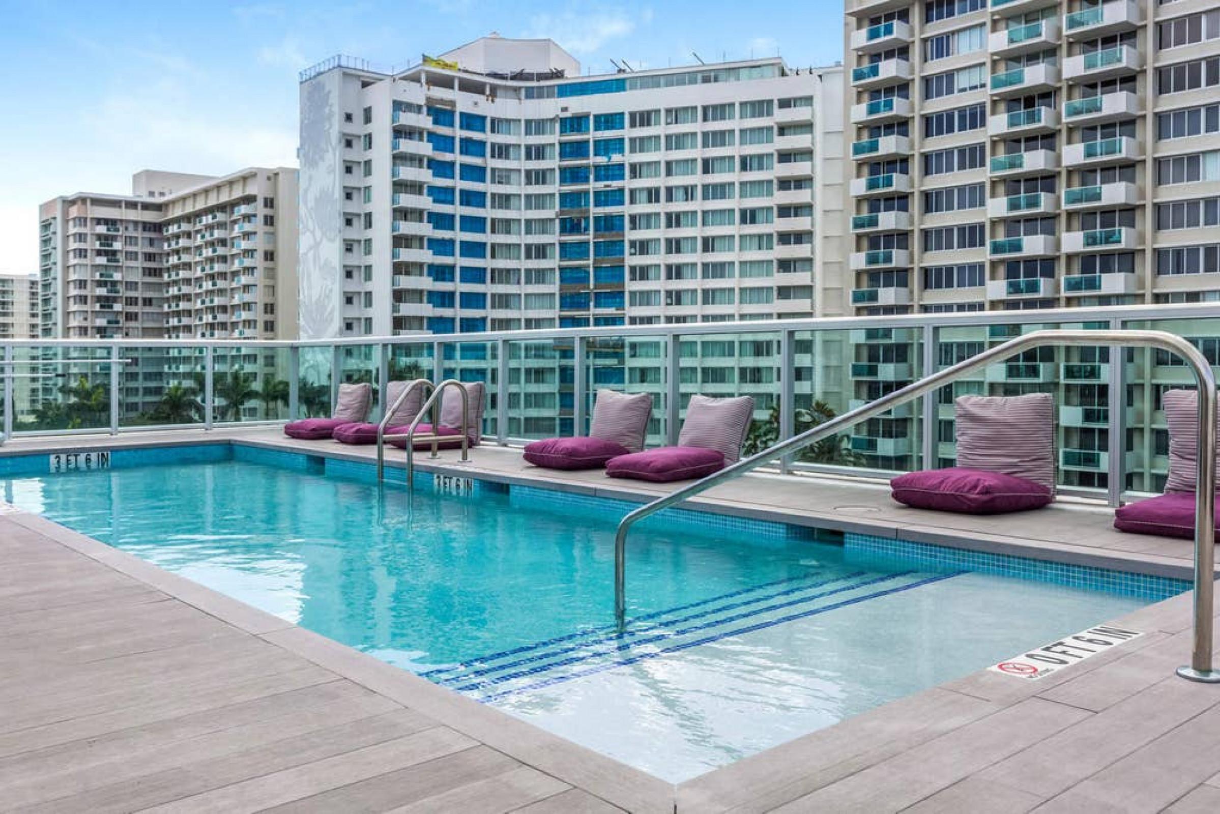 1215 West 56 APT  W/Balcony, Roof Pool & Terrace