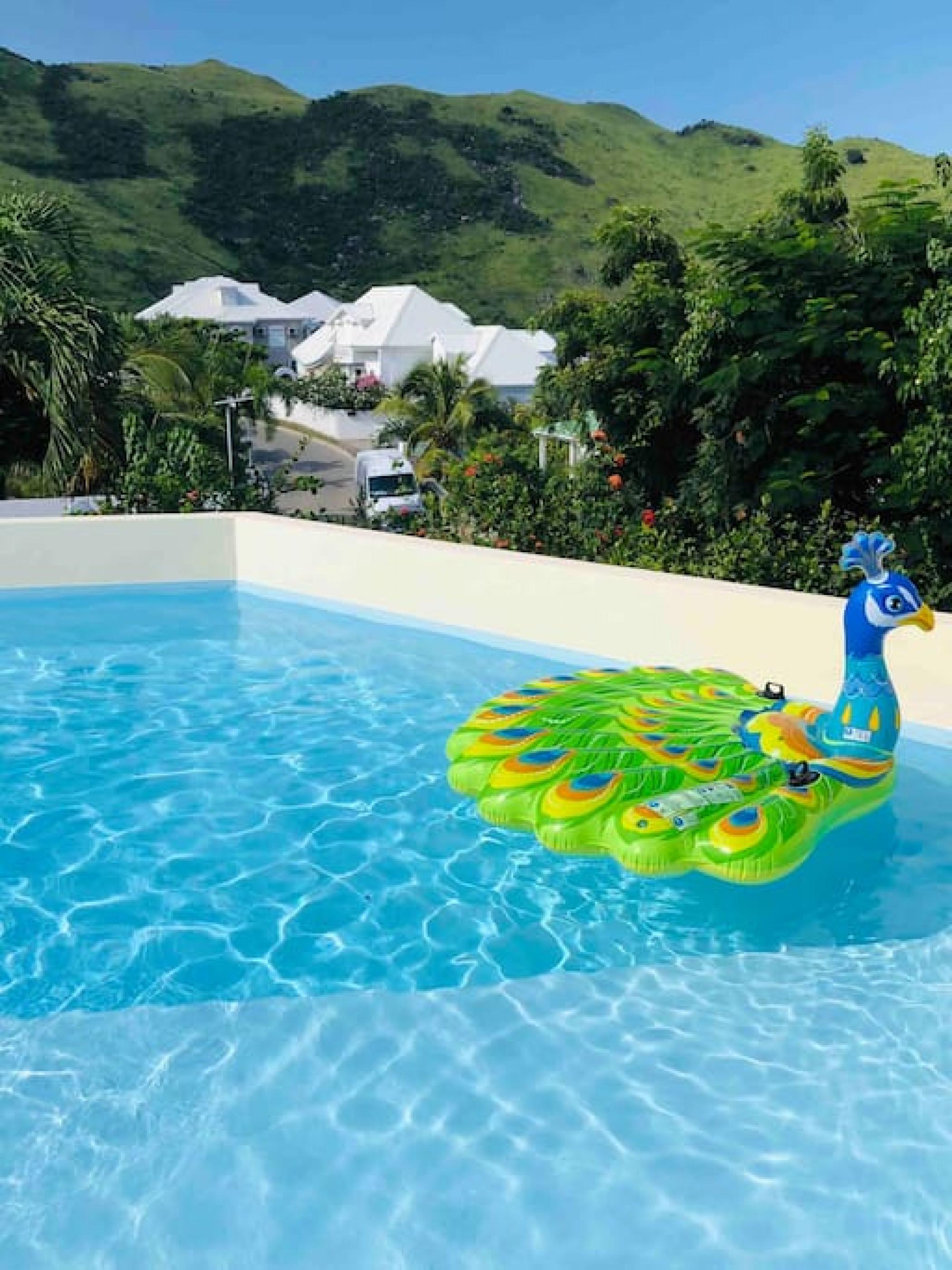 Belle suite S9 à 300m de la mer avec piscine à Cul de sac, Wifi haut débit