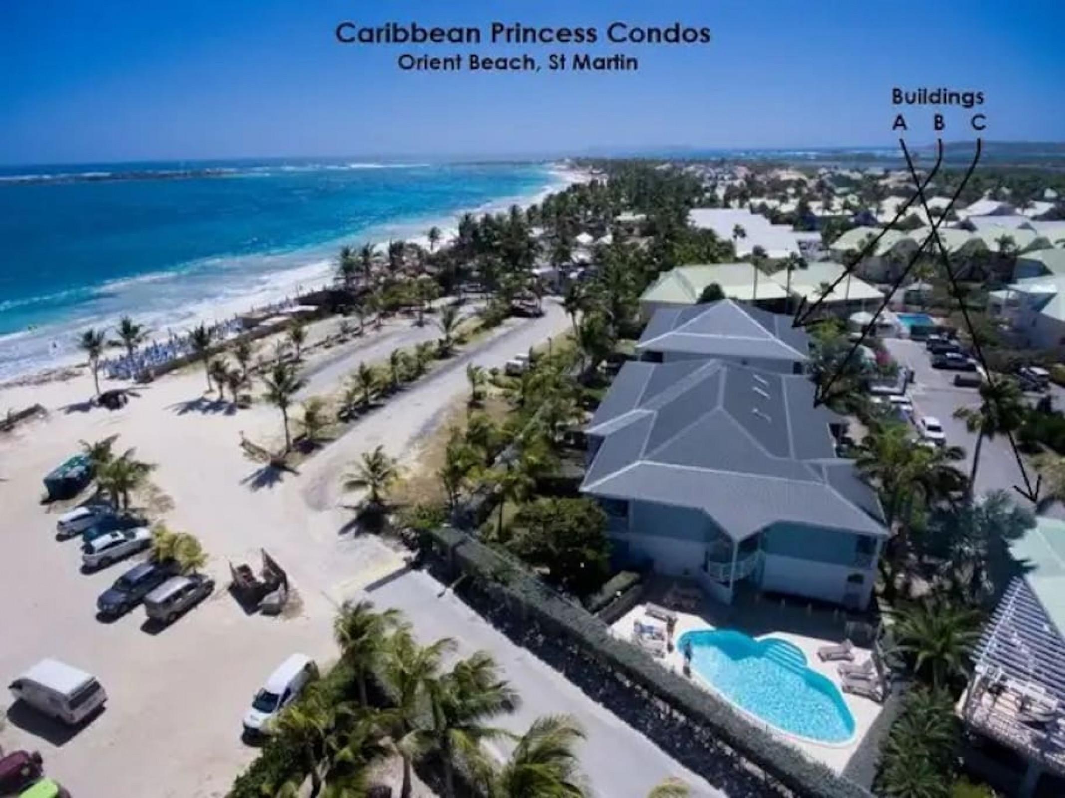 Princess Anaelle · Plage d'Orient Bay, piscine, terrasse, RDC, 150 m²