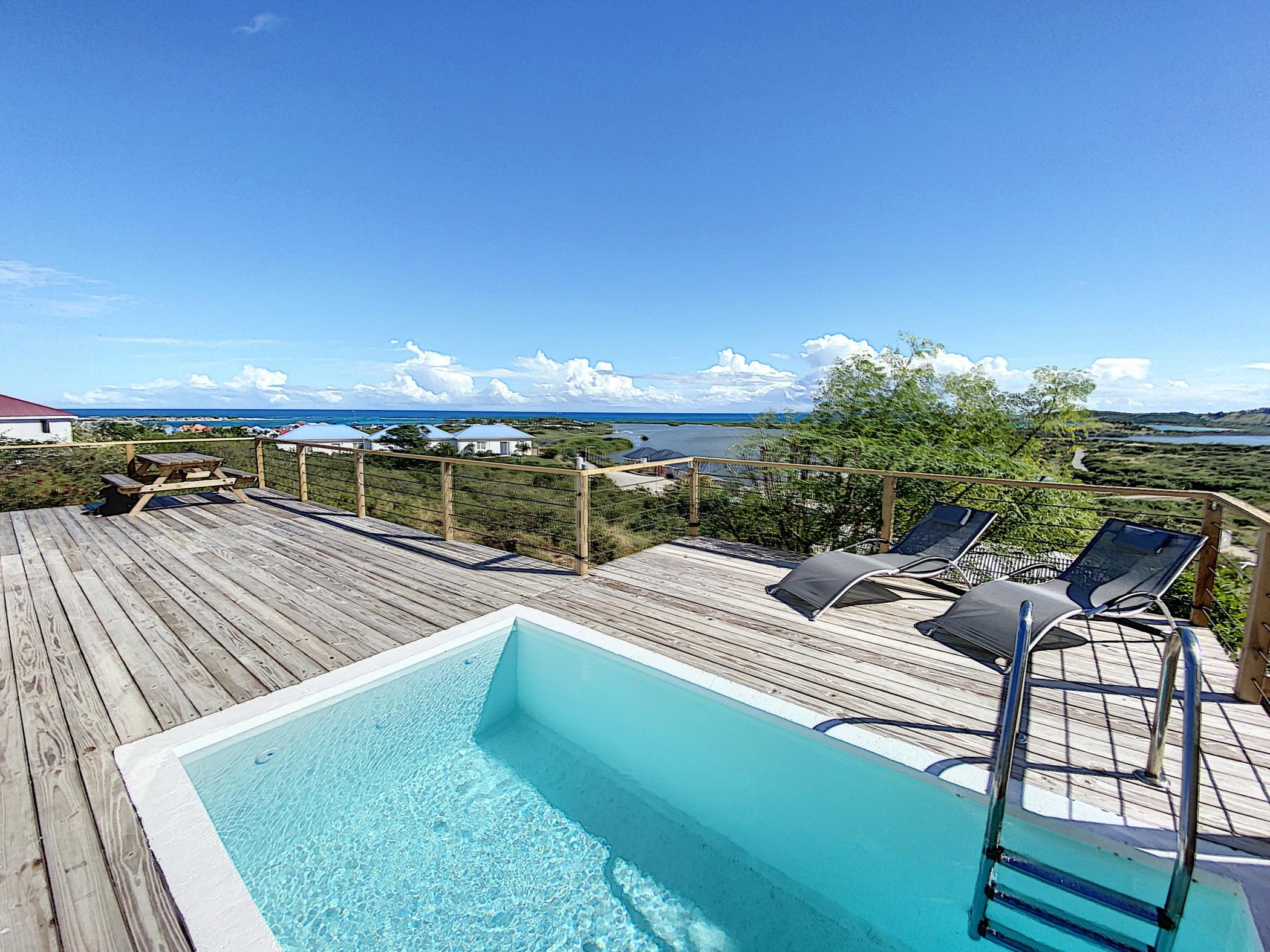 Paradise View, Maison créole avec piscine privée à 5 min d'Orient Bay