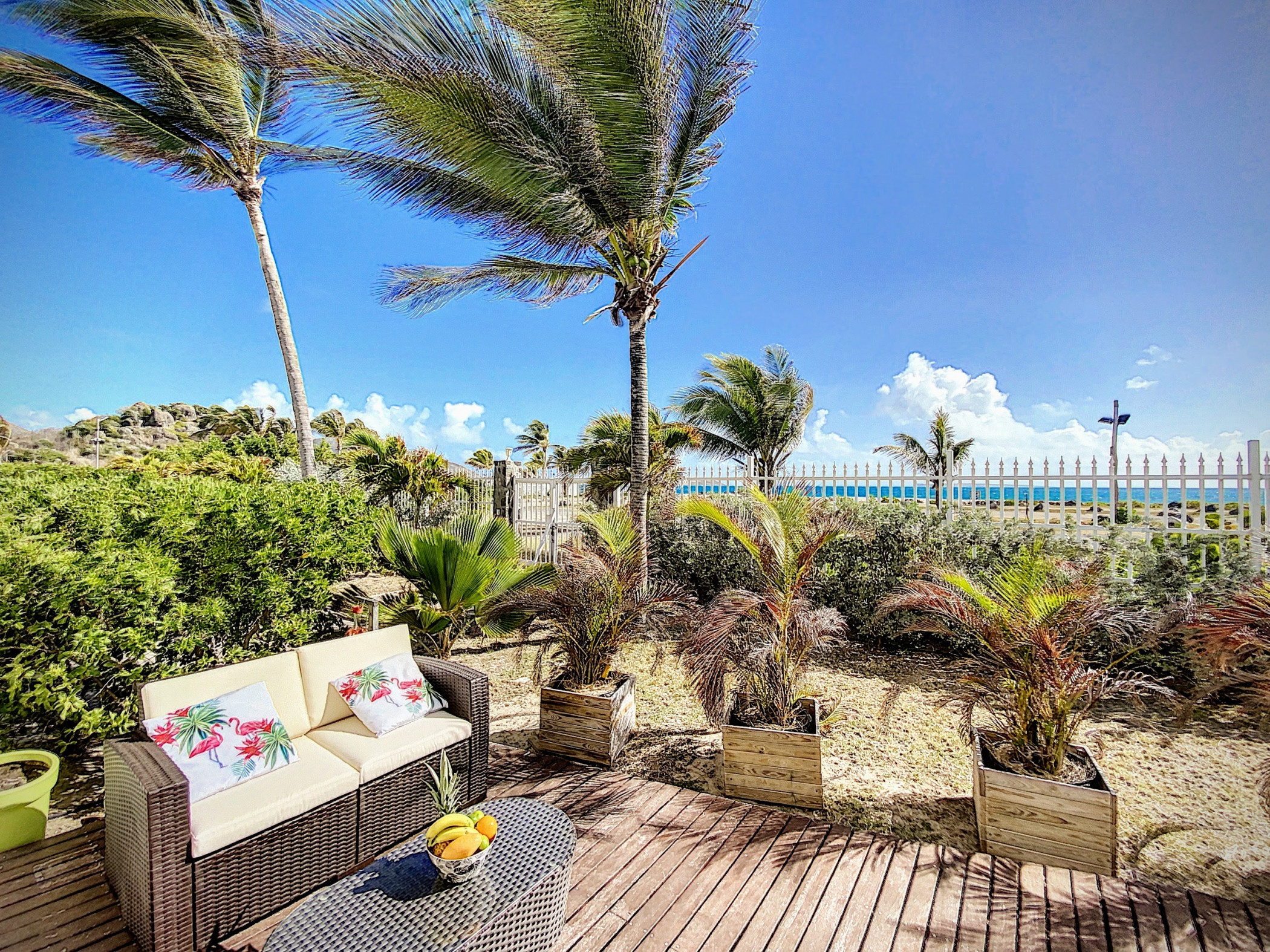Princess Coco, bel appartement RDC sur la plage d'Orient Bay