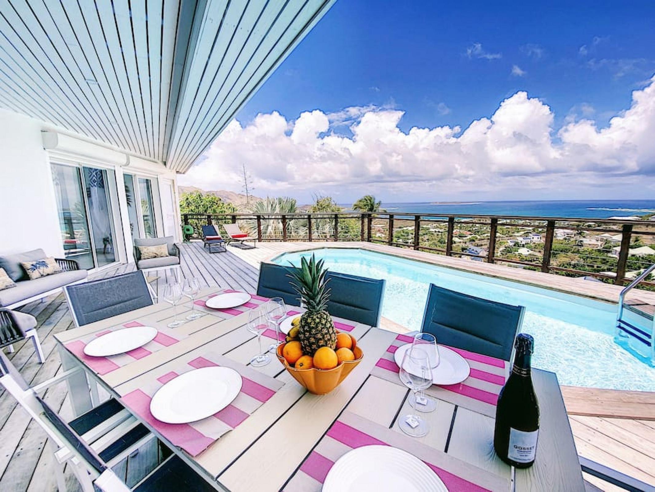 Villa XO, Vue Sublime, à 5 min d'Orient Bay Beach