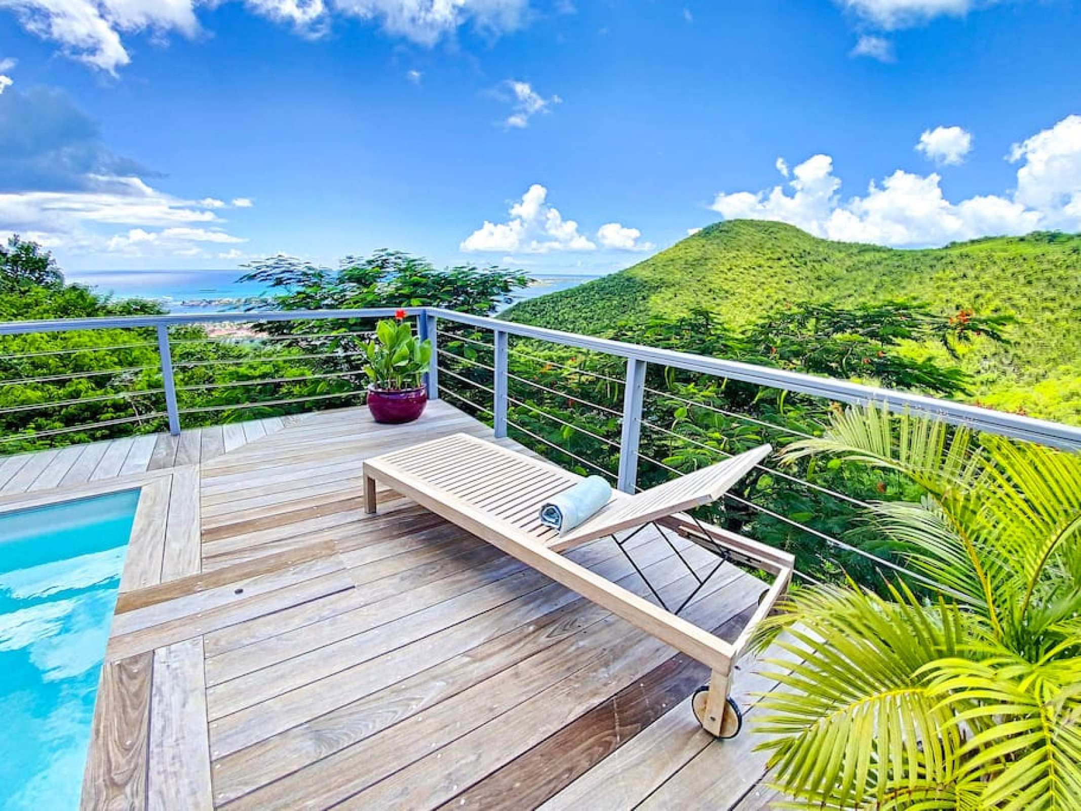 Chambre dans Villa Casa Blue, piscine, vue mer